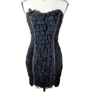 BEBE STRAPLESS BODYCON BLACK DRESS EUC! SIZE SMALL